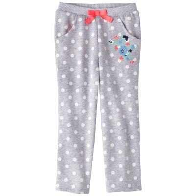 Genuine Kids from OshKosh ™ Infant Toddler Girls' Dot Lounge Pant - Heather Grey 24 M