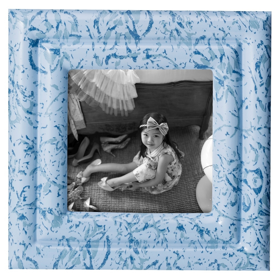 Simply Shabby Chic Resin Frame   Blue 4X4