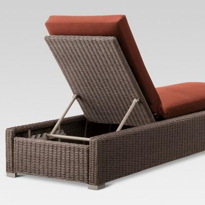 Heatherstone Wicker Patio Chaise Lounge - Orange - Threshold