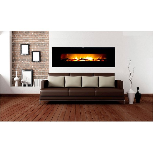 "Wall Hanging Electric Fireplace frigidaire valencia 50"" wall hanging electric fireplace with 2"