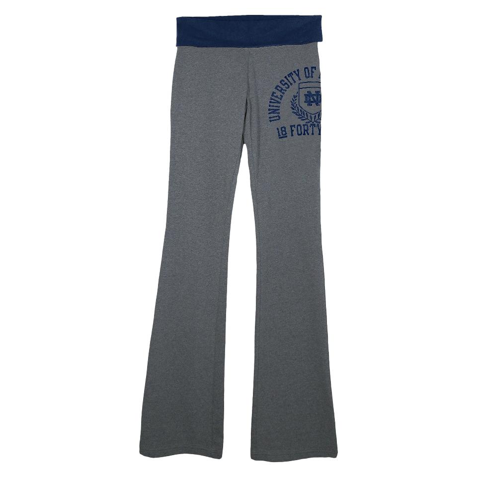 NCAA Womens Notre Dame Pants   Grey (XL)