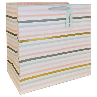 White Striped Gift Bag - Spritz™
