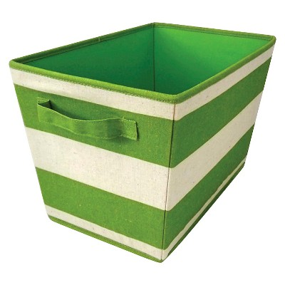 Striped Fabric Bin Large Lime - Pillowfort™