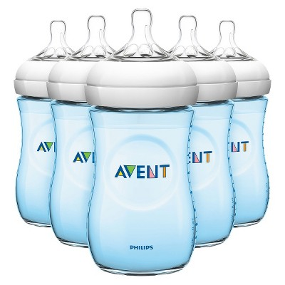 Philips Avent Natural Bottle (Blue)- 9 oz (5 Pack)