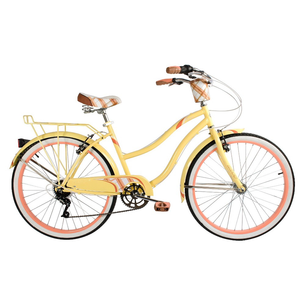 Huffy 26 Ladies Fresno Cruiser - 7 speed - Yellow, Alabaster