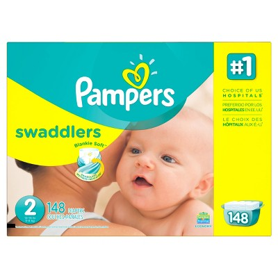 Pampers Swaddlers Diapers Economy Pack - Size 2 (148 ct)