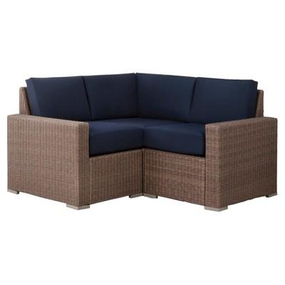 Heatherstone 3 Piece Wicker Patio Sectional Seating Furniture Set    Threshold™