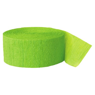 Bright Green Crepe Streamer - Spritz™