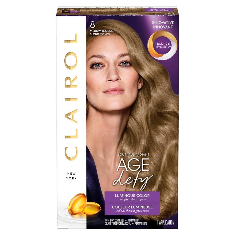 Clairol Expert Nice 'n Easy Age Defy Permanent Hair Color 8 Medium Blonde 1 Kit, Medium Blonde 8