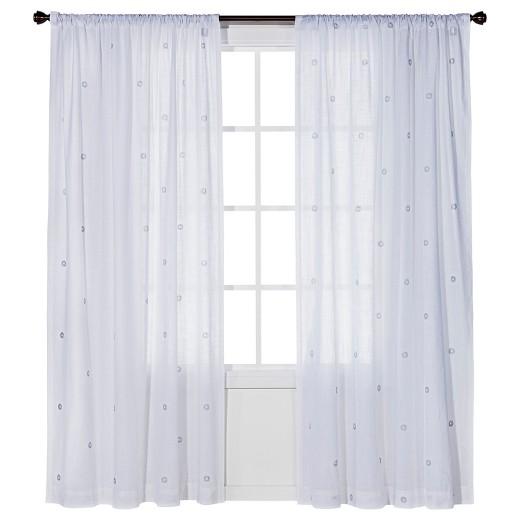 Metallic curtain panel nate berkus target for Nate berkus window treatments