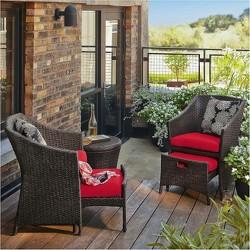 Loft 5-Piece Wicker Patio Conversation Furniture Set - Threshold™