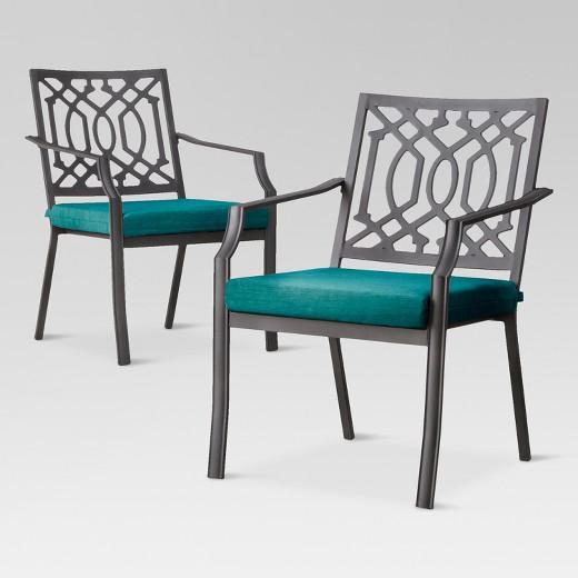 Harper 2 Piece Metal Patio Dining Chair Set Threshold Tar