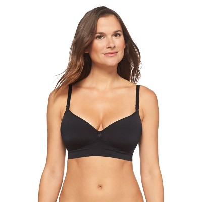 Women's Nursing Seamless Bra Black L - Gilligan & O'Malley™