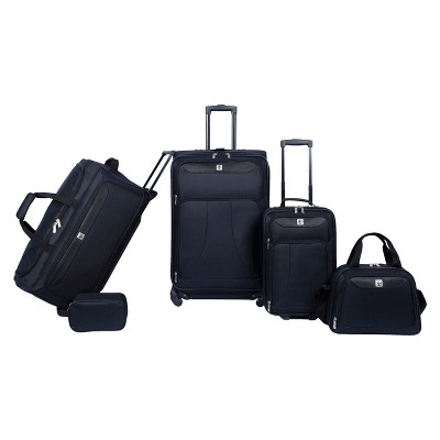 Skyline 5pc Spinner Luggage Set - Ebony Solid
