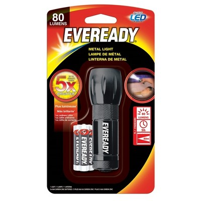 Eveready LED Pocket Flashlight, Metal