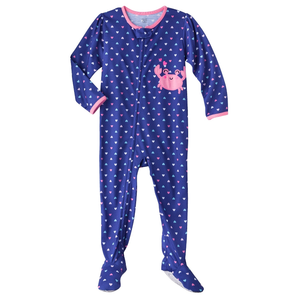 Just One You Made by Carters Infant Toddler Girls Long Sleeve Crab Footed