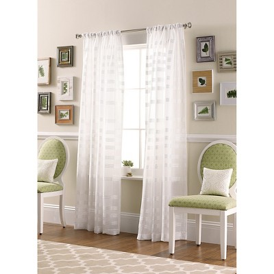 striped sheer curtain panel threshold