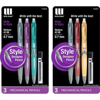 Mega Brands America CYG91 Mega Brands Write Dudes Style Toys Mech Pencil W/ Refill 3 Count