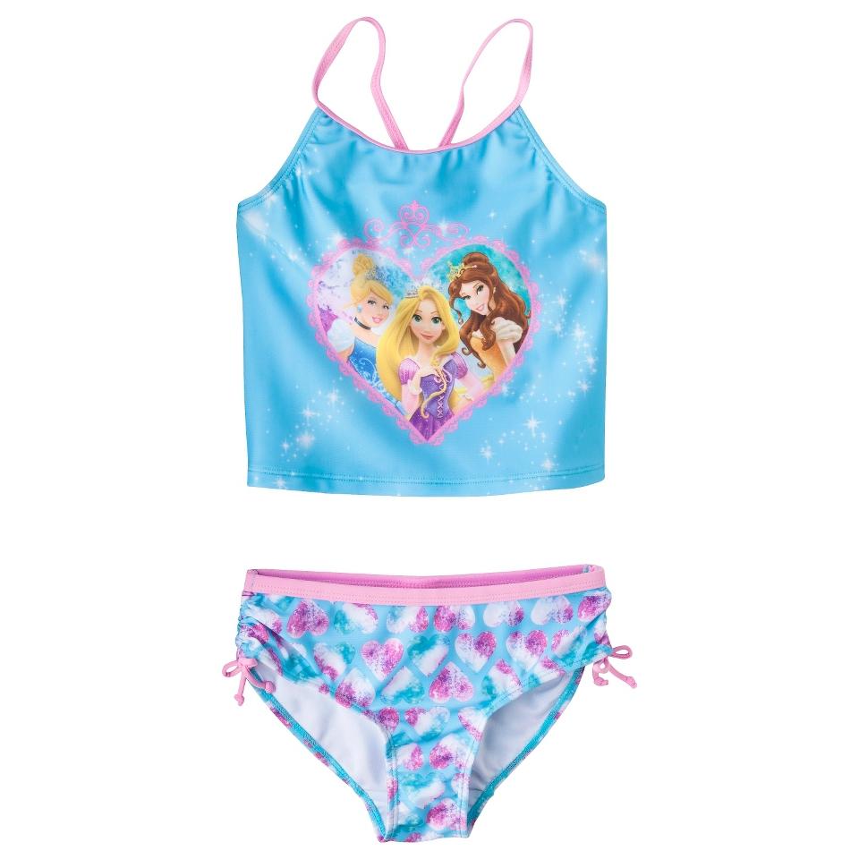 Disney Princess Girls Tankini Swimsuit Set   Blue 6