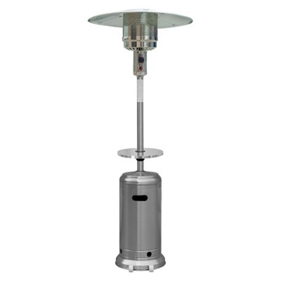 87  Tall Stainless Steel Patio Heater with Table
