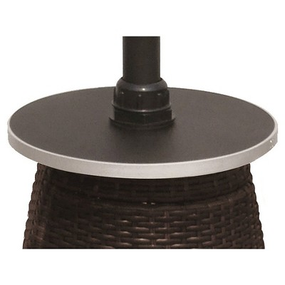 Attractive Tall Wicker Patio Heater With Table