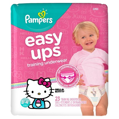 Pampers Easy Ups Girls Training Pants Jumbo Pack, Size 3T-4T (23 ct)