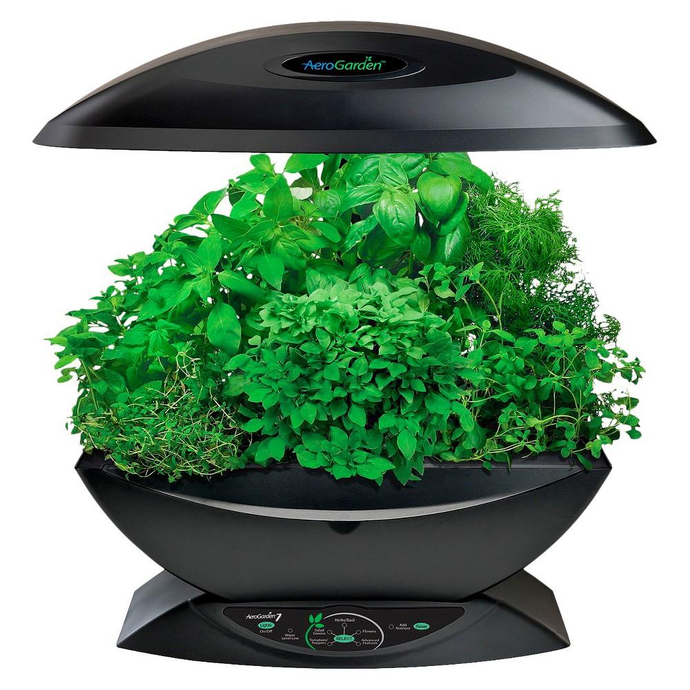 AeroGarden 7 with Gourmet Herb Seed Kit - Black
