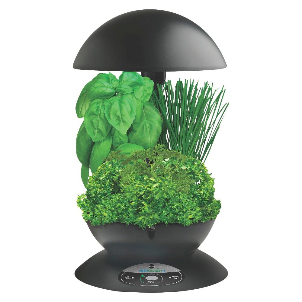 AeroGarden 3 with Gourmet Herb Seed Kit - Black