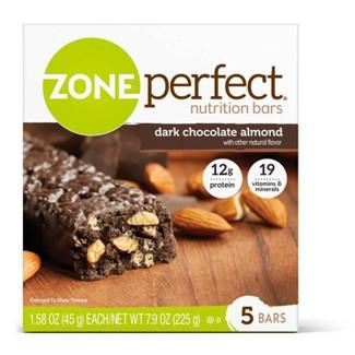 Zone Perfect Nutrition Bar Dark Chocolate Almond - 1.76oz(5pk)