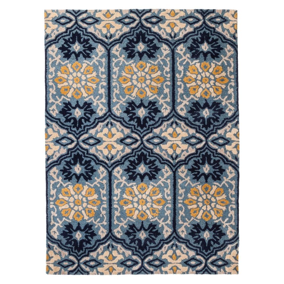 Threshold Mosaic Tile Area Rug   Blue (5x7)