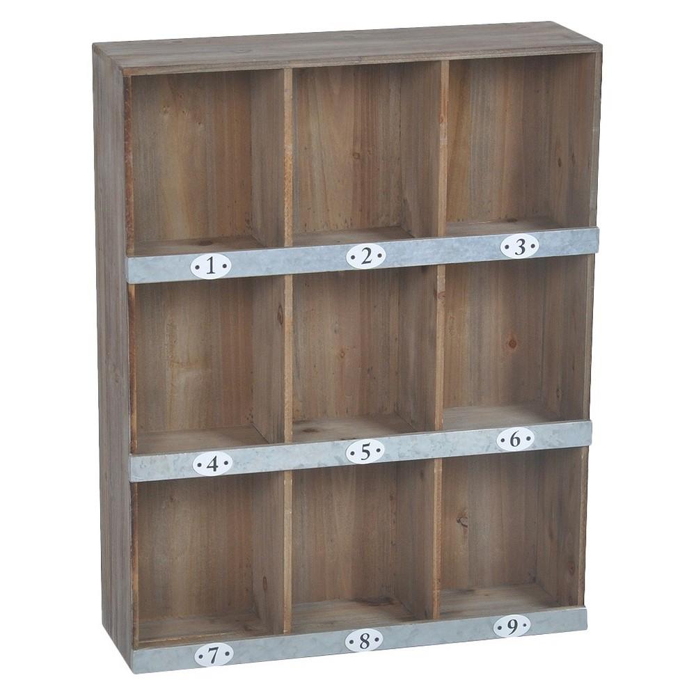 UPC 13 - Wooden Wall Shelf 13-Slot  upcitemdb.com