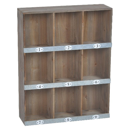 Target Wall Decor Shelves : Wooden numbered wall shelf slot target