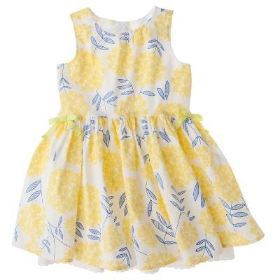 Genuine Kids from OshKosh™ Infant Toddler Girls' Sleeveless Floral Dress - Yellow 2T