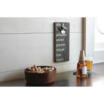 Beer Typography Wall Mounted Bottle Opener