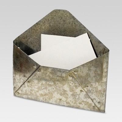 Galvanized Metal Envelope Mail Holder - Threshold™