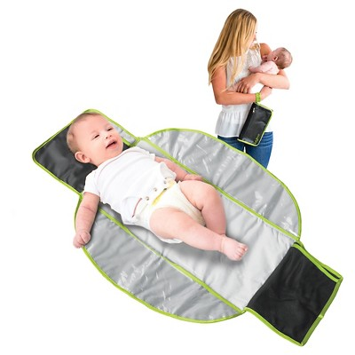 Lulyboo Itty Bitty Compact Diaper Changing Kit - Black/Mint