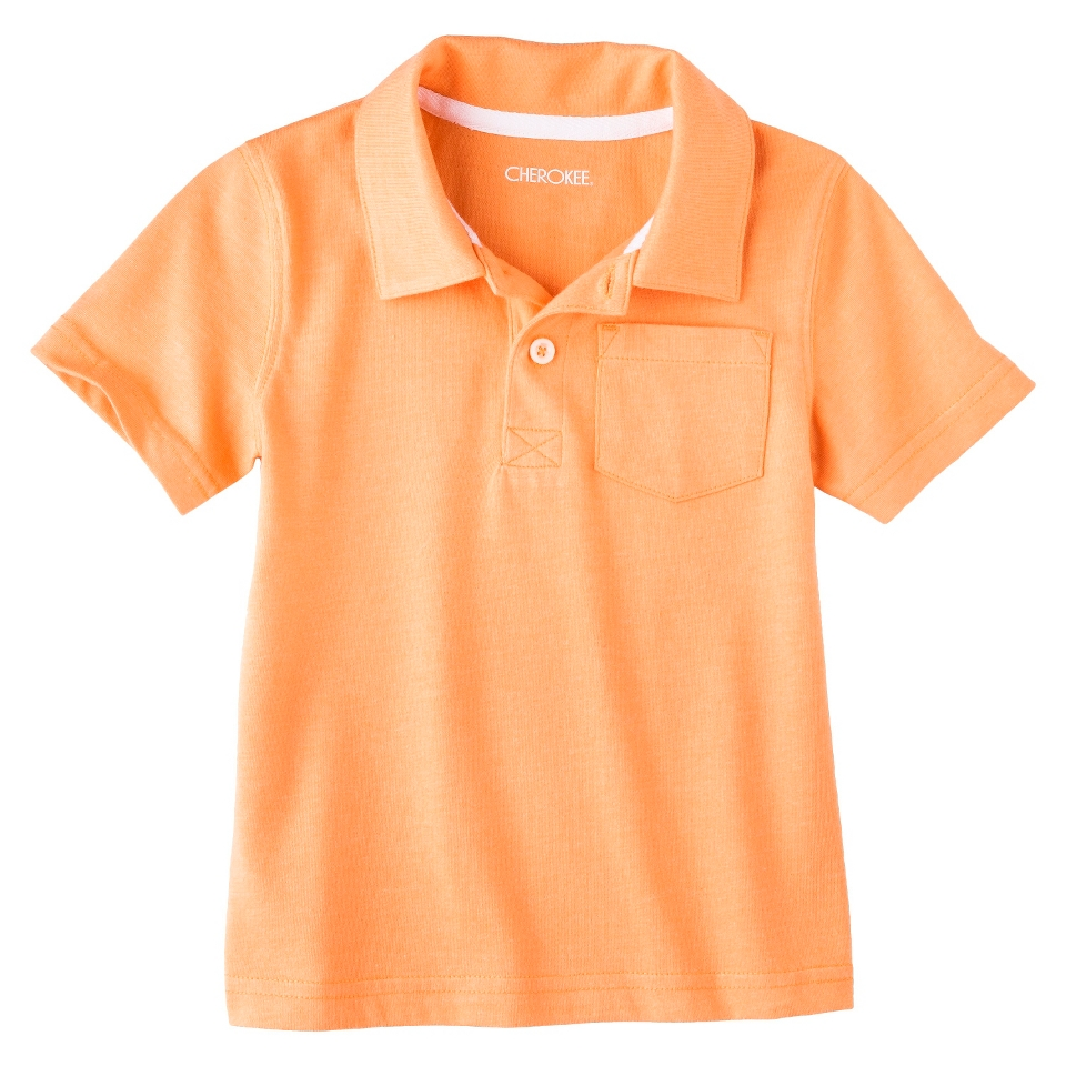 Cherokee Infant Toddler Boys Short Sleeve Polo   Melon 2T