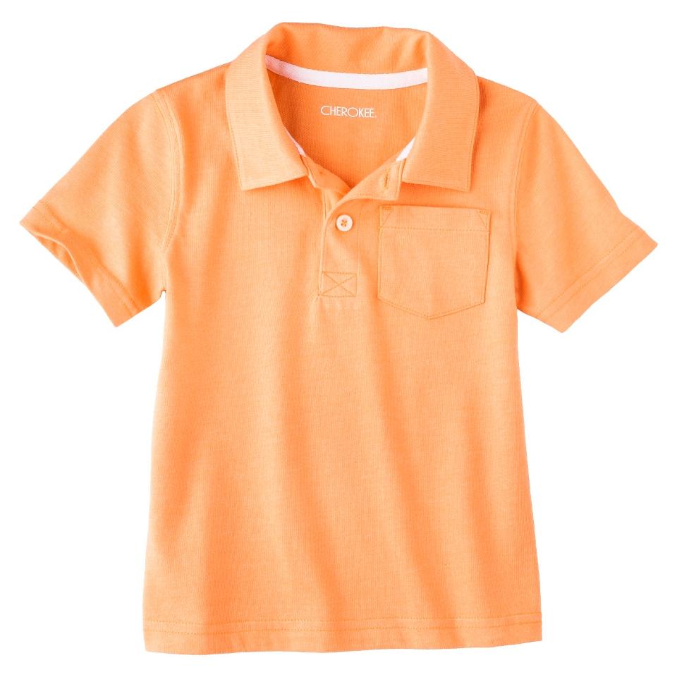 Cherokee Infant Toddler Boys Short Sleeve Polo   Melon 12 M