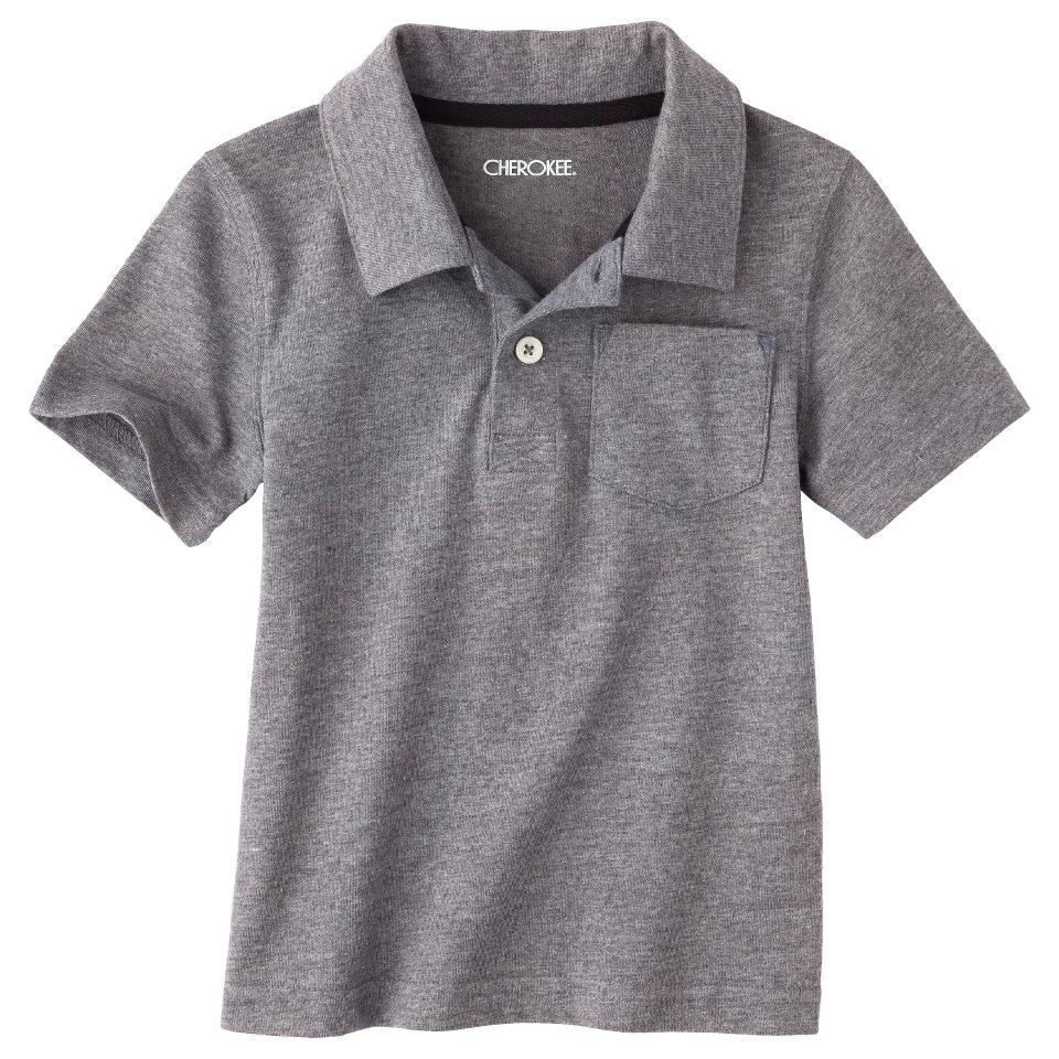 Cherokee Infant Toddler Boys Short Sleeve Polo   Grey 2T