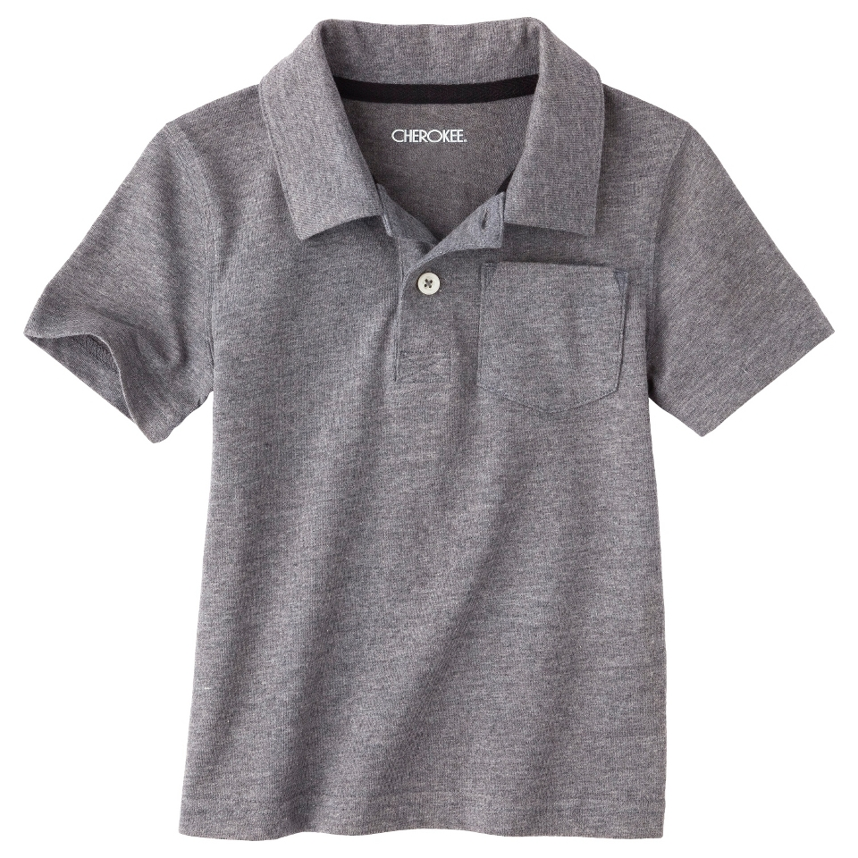 Cherokee Infant Toddler Boys Short Sleeve Polo   Grey 3T