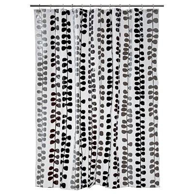 Vinel Shower Curtain - Black/Gray - Room Essentials™
