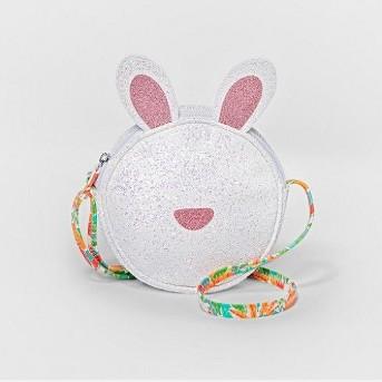 Girls' Glitter Bunny Mini Bag- Cat & Jack™ White