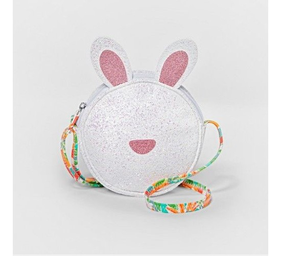 Girls' Glitter Bunny Mini Bag- Cat & Jack™ White