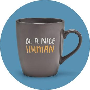 27oz Porcelain Be A Nice Human Mug Gray - Threshold™