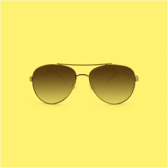 Women's Aviator Sunglasses - A New Day™ Bronze