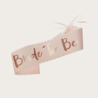 Ginger Ray Pink Bride To Be Sash Team Bride