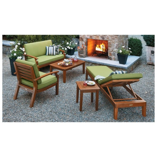 Brooks Island Wood Patio Furniture Collection Smith & Hawken Tar