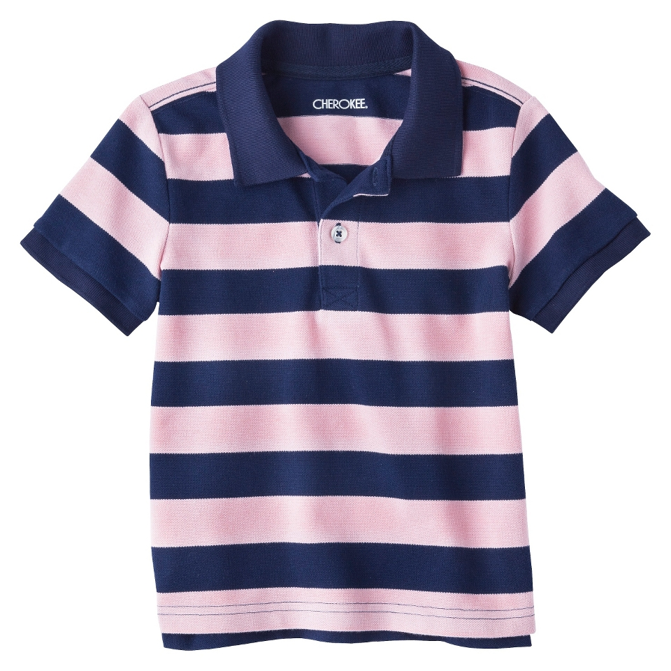 Cherokee Infant Toddler Boys Short Sleeve Rugby Striped Polo Shirt   Restful