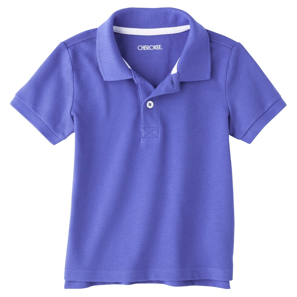 Cherokee Infant Toddler Boys Short Sleeve Polo Shirt   Extreme Blue 5T