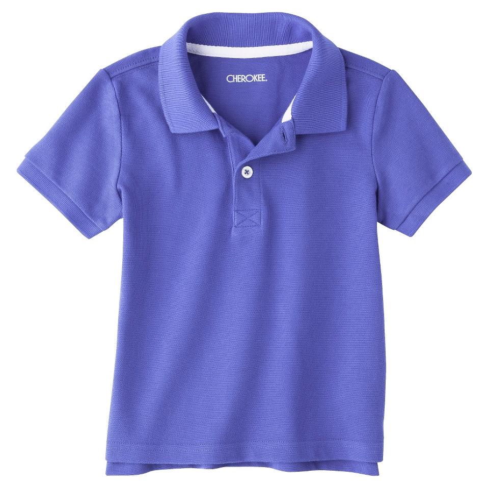 Cherokee Infant Toddler Boys Short Sleeve Polo Shirt   Extreme Blue 18 M